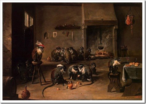 Apes in the Kitchen - David Teniers II