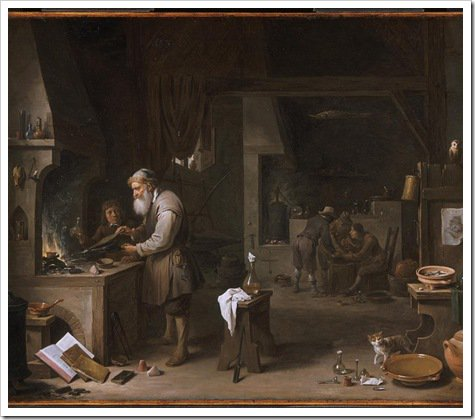 The Alchemist (1649 Antwerp) David Teniers II
