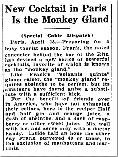 Article from the April 23, 1923 Washington Post