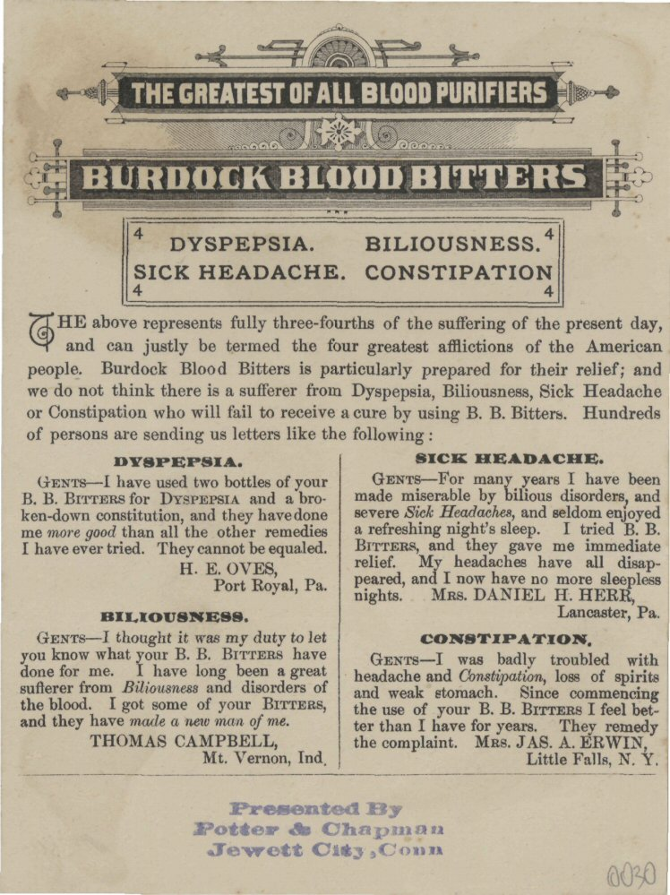 Burdock Blood Bitters 2