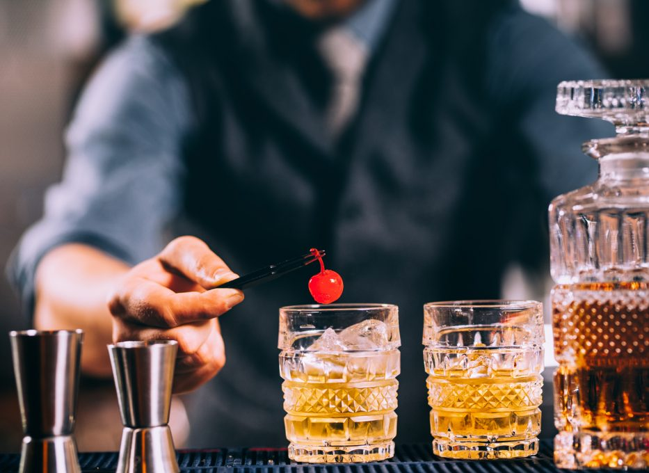 Recipe for cocktail cherries.