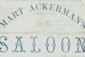Mart Ackerman's Saloon Toronto 1855