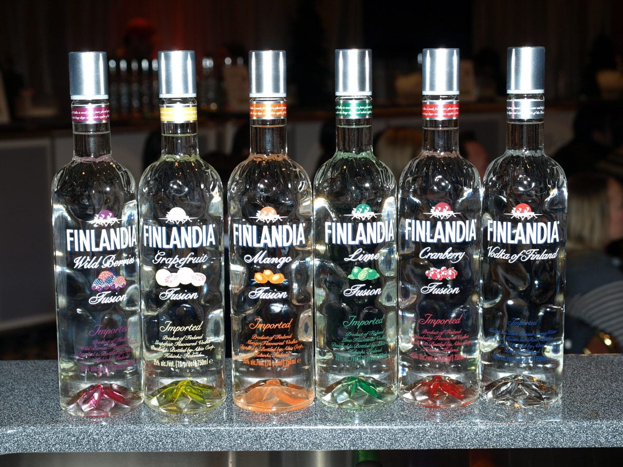 Finlandia Flavoured Vodka: Wild Berry, Lime, Mango, Cranberry, Grapefruit