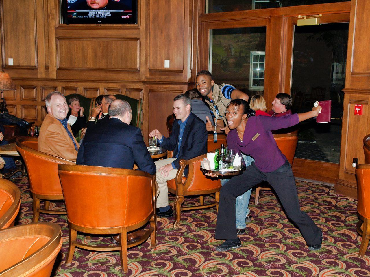 Broadmoor Hotel Bar Photobomb