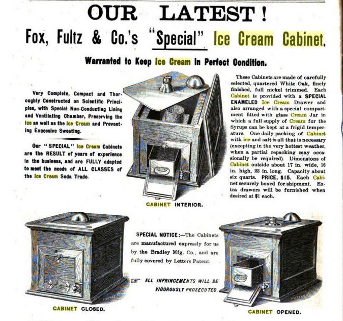 Ice Cream Cabinet 1895