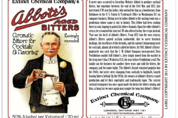 Abbott's Bitter Label