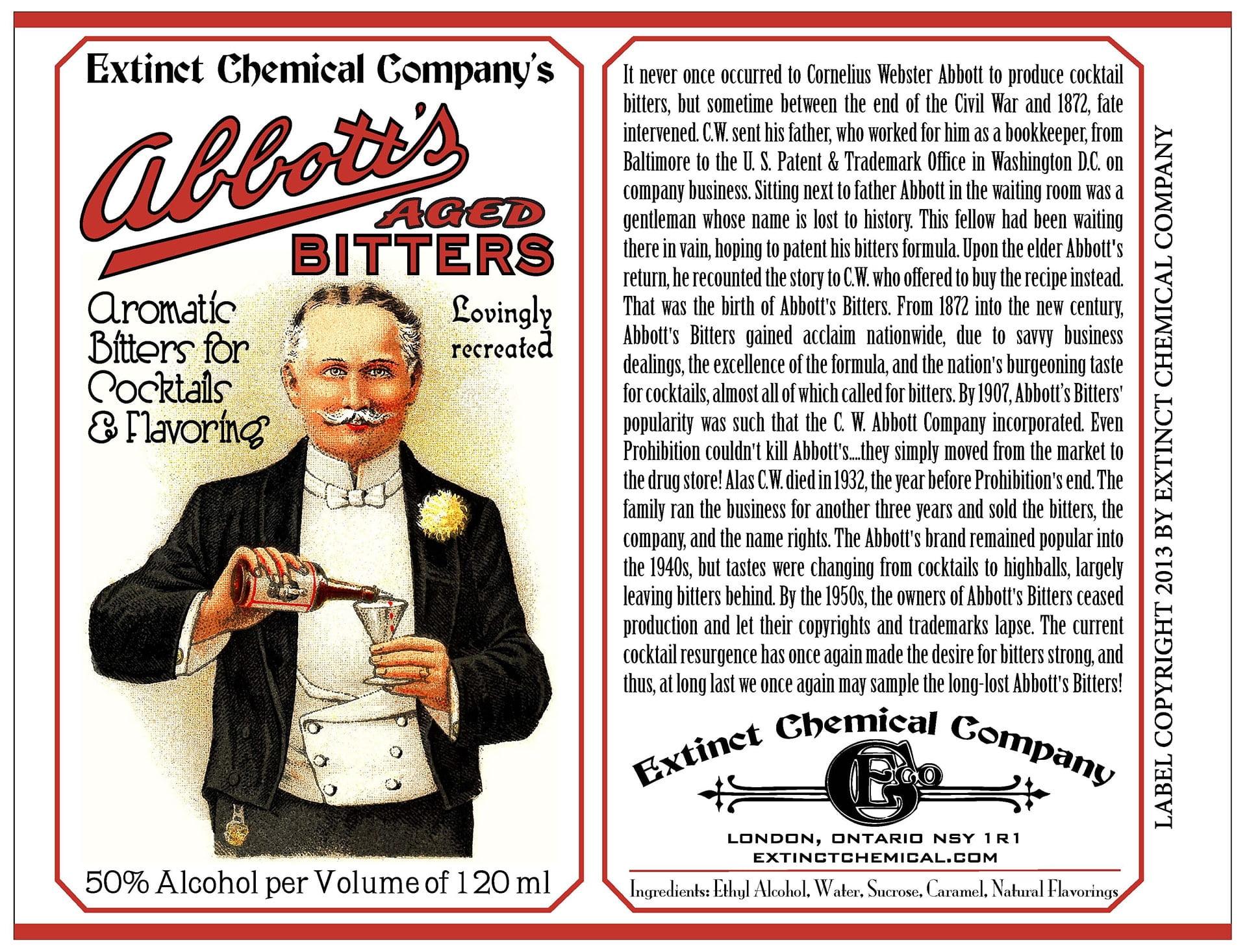 Abbott's Bitter Label